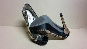 Pumps High Heels Damen Schuh Größe 37 NEU Schwarz Neupreis 49.99 EUR