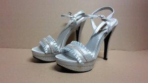 Pumps High Heels Damen Schuh Größe 37 NEU Silber
