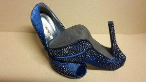 Pumps High Heels Damen Schuh Größe 38 NEU Blau
