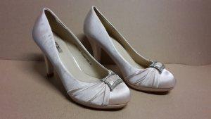 Pumps High Heels Damen Schuh Größe 38 NEU Champagner