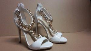 Pumps High Heels Damen Schuh Größe 38 NEU weiß