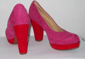 Platform Pumps red-neon red