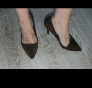 pumps High heels Hohe Schuhe Esprit neu.39 velours leder braun