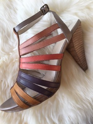 3 Suisses High Heels multicolored leather