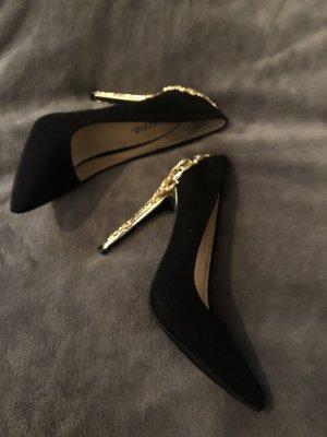 Pumps / High Heels schwarz & gold