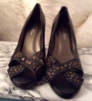 Pumps high heels schwarz mit Nieten 39