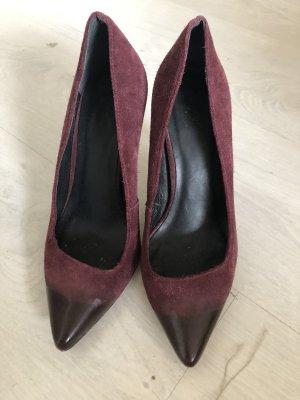 Pumps High heels Stiletto von maje Gr.37/37,5 weinrot Bordeaux Wildleder