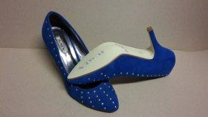 Pumps High Heels ungetragen NEU Größe 38 Blau