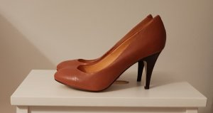 Pumps*Highheels*Buffalo*Echtleder*neu*36*Cognac *Silvester*Party