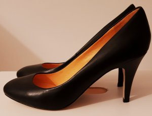Pumps*Highheels*Buffalo*Echtleder*neu*36*Schwarz *Silvester*Party