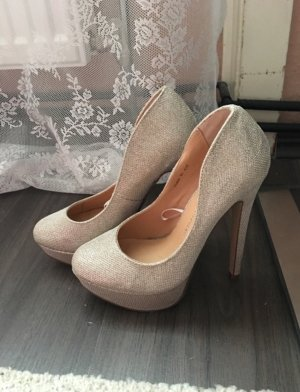 Pumps, Highheels, Gold