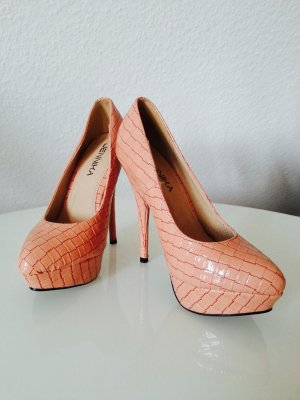 Pumps / Highheels in beige, Gr. 36