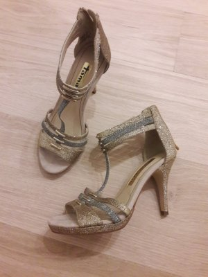 Pumps Highheels Tamaris gold silber Sandalen