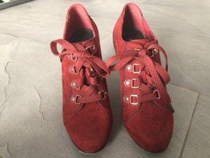 Graceland Chaussure à talons carrés rouge carmin