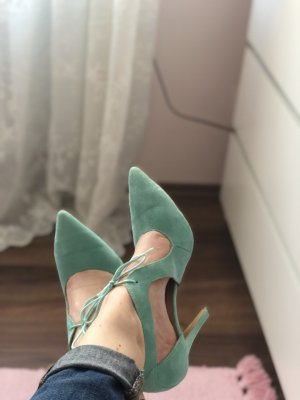 Alba Moda Lace-up Pumps turquoise-light blue