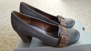 s.Oliver Backless Pumps grey brown-brown