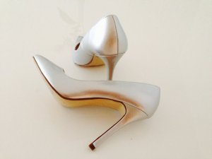 Pumps in Metallic Silber