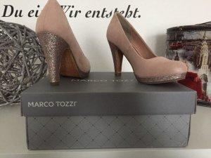 Pumps in Rosa/Glitzer Marco Tozzi