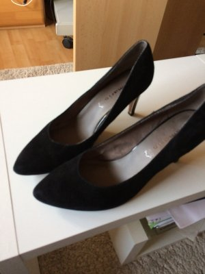Tamaris Shoes black suede