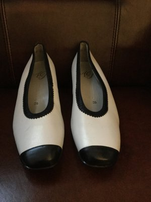 Atelier Creation Shoes white-dark blue imitation leather