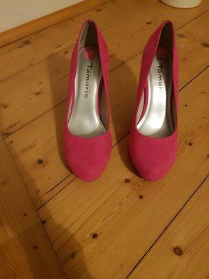 Tamaris Tacones con plataforma rosa