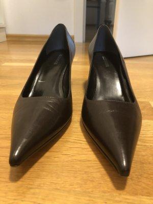Jil Sander Zapatos de cuña marrón Cuero