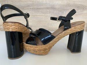 Prada Escarpin à plateforme noir cuir