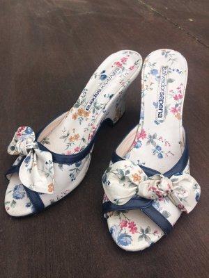 Wedge Sandals white-blue