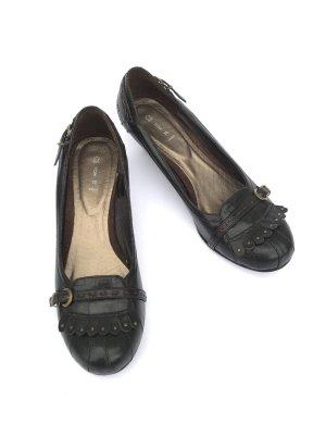 Pumps Leder braun Gr 39 Vintage Blogger Retro Style Boho Schuhe