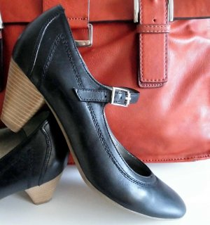 5th Avenue Backless Pumps black leather