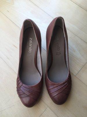 Pumps Lederpumps Zalando Shoes Cognac / braun  Größe 39 NEU