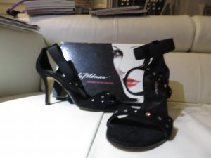 Pumps Marke Beverly Feldman Gr.: 40 Farbe schwarz mit Strasssteinen