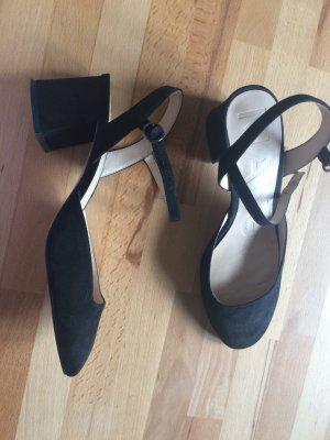 Mango Mary Jane Pumps black leather