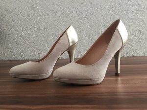 Pumps mit Absatz in Metallicoptik