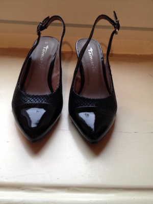 Tamaris Slingback Pumps black leather