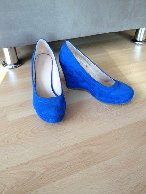 Graceland Plateauzool pumps blauw