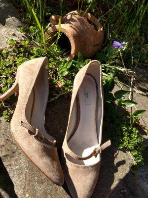 Zara Basic Strapped pumps sand brown