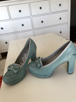 Mustang Platform Pumps baby blue leather