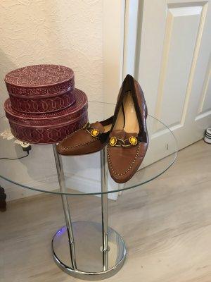 Gerry Weber Slingback Ballerinas camel-cognac-coloured leather