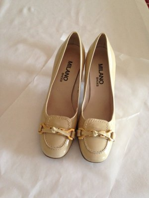 Milano High-Front Pumps cream leather
