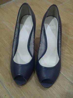 Akira Peep Toe Pumps donkerblauw
