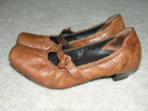 Pumps PAUL GREEN Leder cognac braun