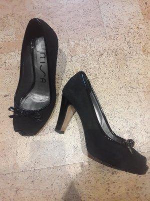 Unisa Peep Toe Pumps black