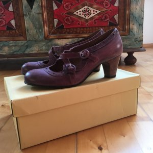 Pumps#Purple#Vintage Look#Made in Italy