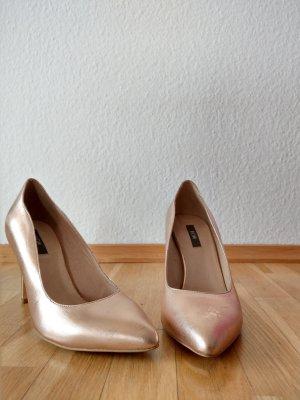 Kiomi Pointed Toe Pumps rose-gold-coloured