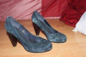 Pumps Samt blau H&M hohe Schuhe