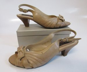 5th Avenue Slingback pumps beige-licht beige Leer