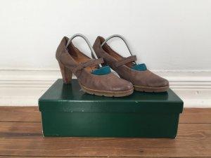 Pumps Sandaletten von PAUL GREEN * Leder * braun graphit * Gr. 38 * NP 110,00 EUR