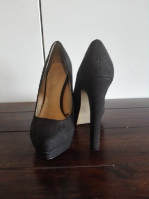 Zara Trafaluc Tacones con plataforma marrón oscuro