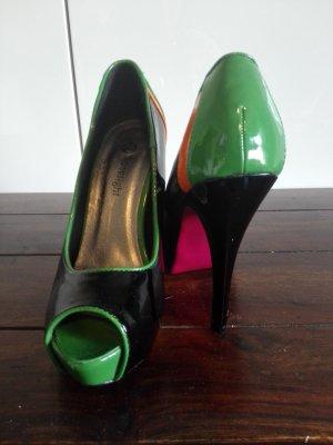& other stories Tacones con plataforma negro-verde